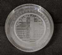 Glass paperweight roundel